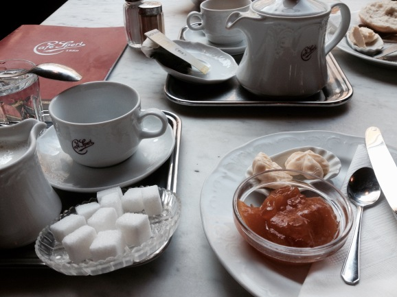 Traditional Viennese breakfast