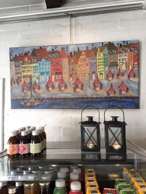 Art inside Anettes Sandwich place