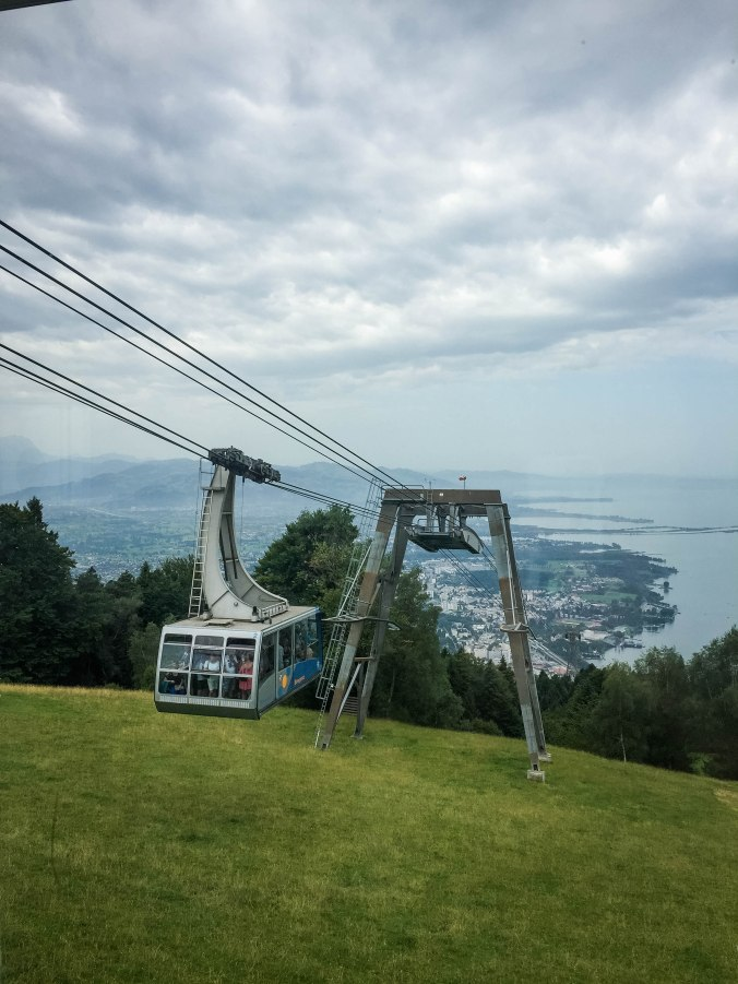 Bregenz_Pfänder_cable car_people