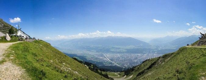Innsbruck_nordkette_panorama view