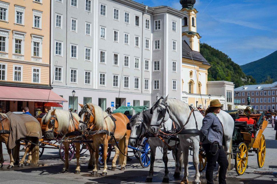 Salzburg_city_streets_horses_fiaker