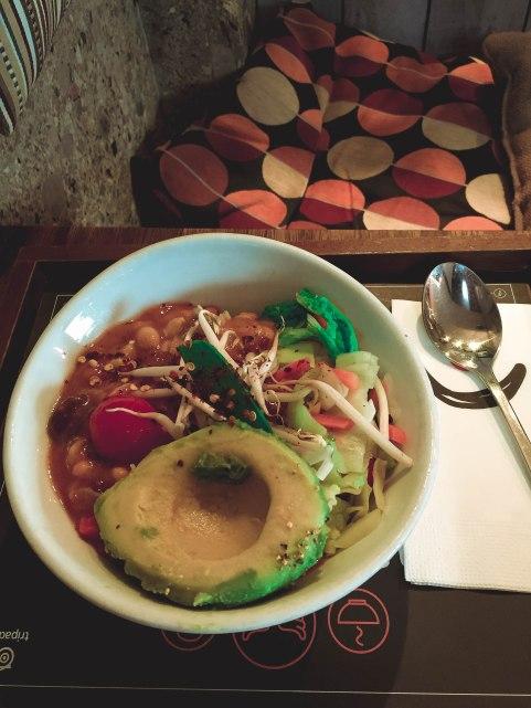 vegan curry with avocado!
